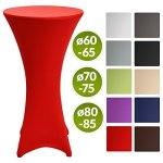 Beautissu Housse de table de bistrot – Mange debout – Deco Cocktail – Stretch spandex – Stella – 80-85cm – Rouge