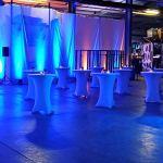 Expand Housse Pour Tables Hautes Gris – Couverture, Revêtement, Nappe Pour Tables Mange-Debout – Ø 80cm-86cm – Stretch
