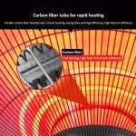 L-ELEGANT Chauffage extérieur Radiant Silencieux,Chauffage électrique de terrasse Extérieur,Parasol Chauffant Infrarouge Radiateur de Patio Basse Consommation-2200w 58x210cm(23x83in)
