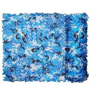 QI-CHE-YI Net de Camouflage, utilisé pour l'auvent de Jardin, auvent extérieur, auvent caché, Gazebo, Marine Blue Camouflage Filet,3x4m
