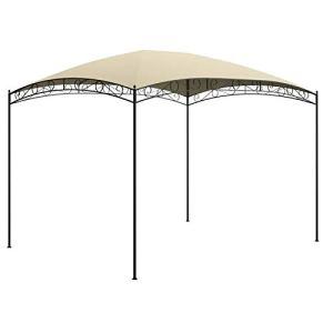 Tidyard Belvédère de Jardin Tente de Jardin Garden Pavillon 3x4x2,65 m Crème 180 g/m²