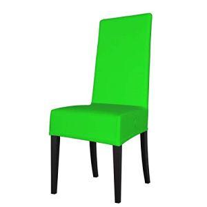 Uliykon Housse de chaise de salle à manger extensible, couleur vert fluo, élasthanne, élastique, amovible, lavable, housse de protection pour chaise de salle à manger, cuisine, hôtel, cérémonie, fête