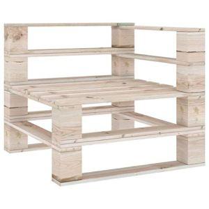 vidaXL Canapé d'angle en bois de pin imprégné – Canapé de jardin – Fauteuil de jardin – Meubles de palette – Canapé simple