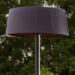 FAVEX – Parasol Chauffant électrique Sirmione Gris – Extérieur – 3 Puissances de Chauffe – 60 x 60 x 215 cm