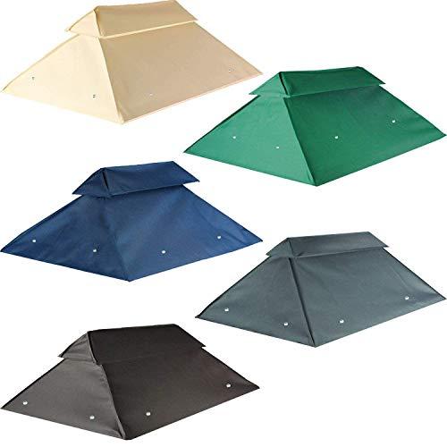 freigarten.de Toit de rechange pour tonnelle 3 x 4 m imperméable Matériau : PVC Panama Soft 370 g/m² Modèle 7 (vert)
