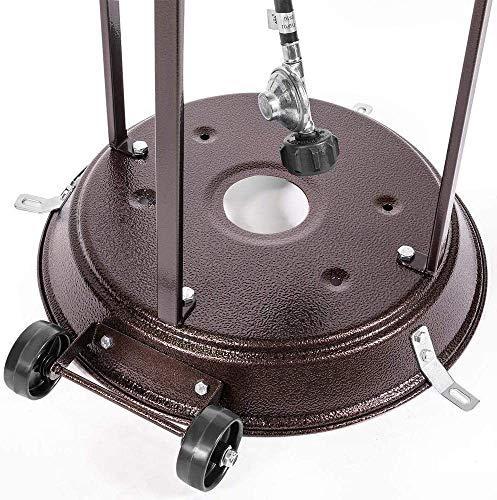 Kit de roue mobile universelle de remplacement pour chauffage de balcon – Accessoires de chauffage extérieur – Parasol chauffant à gaz (facile à déplacer/installer)