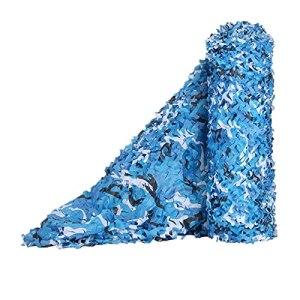 Filet pour Blindage de la lumière extérieure,bache ombrage Voile ombrage Militaire Couverture,pour fêtes à thème Voiture, Couverture Camouflage (Size:3x4m/9.84×13.12FT,Color:océan)