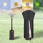 Housse parasol chauffant de Terrasse -210D Oxford Imperméable Housse pour Parasol Chauffant au Gaz avec Sangles pour Chauffage Vertical de Tour Extérieur (221*85*48 CM-87x 33.5x 19 pouces)