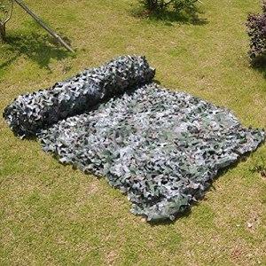 KEANCH Filet De Camouflage Auvent, Net De Camouflage Digital Net De Camouflage Woodland, Jungle Masquer Military Net Net Sunscreen Filets, Chasse Tir De Sunshade Décoration(Size:4x8m(13.1 * 26.2ft))