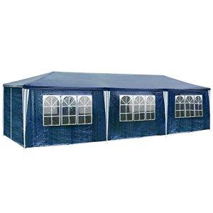 TecTake 800085 Tonnelle Tente Gazebo Pavillon de Jardin d'événement pour fête 9×3 m – diverses Couleurs au Choix – (Bleu | no. 400935)
