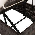 Tidyard Canapé de Jardin/Patio/Terrasse en Résine Tressée Construction Légère Facile à Déplacer Marron 195 x 60 x 60 cm