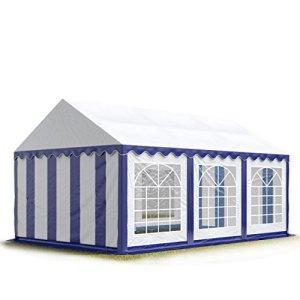 TOOLPORT 3×6 m Tente de réception/Barnum Bleu-Blanc Toile de Haute qualité env. 500g/m² PVC