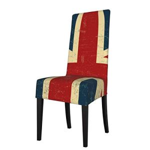Uliykon Housse de chaise de salle à manger extensible, motif Union Jack vintage, élasthanne élastique, amovible et lavable, pour salle à manger, cuisine, hôtel, cérémonie, fête