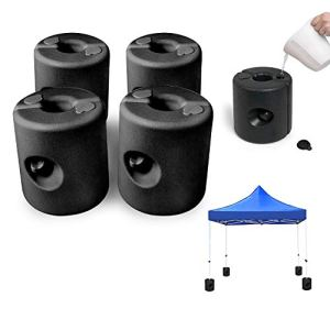 wolketon Set de 4 Pieds pour tonnelle 20-40mm, Remplissable avec du Sable ou de l'eau, PEHD Poids pour pavillon la Fixation stabilisation de gazebos Chapiteaux pour tentes de Jardin