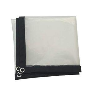 Bâche imperméable à l'eau bâche Transparente Rideau en Plastique d'épaississement de Tissu antipluie de Toile, Taille Personnalisable (Color : Clear, Size : 4X8M)