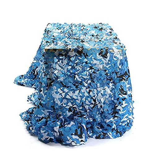 Bricolage Camo Filet Renforcé Filet Camouflage Couleur,Filet pour pergola auvent de la Voiture,pour Parasol Chasse Outdoor Army Camo Camouflage (Taille Customize) (Size:3x4m/9.84×13.12FT,Color:océan)
