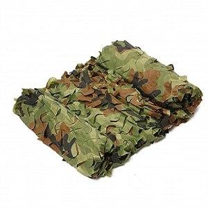 Camo Ombrage Net Filet De Camouflage Blanc,bache ombrage bache terrasse Camouflage,Convient à à la Chasse Sauvage Photographie Ombre du Soleil De Camouflage Woodla(Size:3x3m/9.84×9.84FT,Color:Jungle)