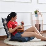 Canapé Paresseux Lazy Floor Sofa Chair Élégant La Maison Réglable Pliant Canapé Lits Lounge Chair Avec Oreiller Floor Chair Relaxant Lit Siège Canapé Lounger ( Couleur : Bleu , Taille : 50*12*120cm )
