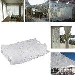 Filet de camouflage blanc Décoration de jardin Décoration de fête à thème Filet Camouflage 2x3m 2x4m 2x5m 3x3m 3x5m 3x6m 5x6m 5x8m 6x6m 6x8m 8x8m 8x10m 10x10m Filet de camouflage Filets de protection