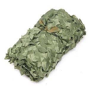 filet ombrag camouflag filet camouflage militaire sable,Renforcé Toile D'Ombrage Voiture Couvre,Convient auxParasols Extérieurs à la Verdure en Montagne et à (Size:3x6m/9.84×19.68FT,Color:armée verte)