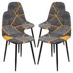 papasgix Housse de Chaise Scandinave Housse de Chaise de Salle à Manger Extensible Imprimé Couverture de Chaise Lavable Protection de Chaise pour Maison(Style#1,4 Pieces)