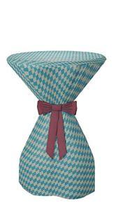 Sensalux Housse pour table mange-debout en tissu non-tissé Effet lotus Couleur et taille au choix, 100 % polypropylène, Ruban : bordeaux., Bayern, 60cmØ