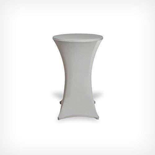 stehti schhussen Table Housse Beautissu Housse mange-debout Table de bistrot Gartenmobel-Einkauf Housse de table, argent, 60×120