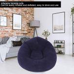 SZHWLKJ Canapé gonflable simple sphérique pour dortoir, chambre, camping, pique-nique – Ultra doux