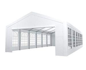Tente de réception 6x12m Premium 240g/m² PE poteaux Acier galvanisés