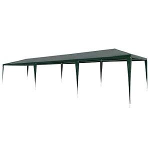 vidaXL Tente de Réception 3×9 m PE Vert Jardin Terrasse Patio Tonelle Pavillon
