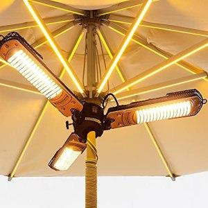 WANGXIAO Garden Parasol Chauffant,avec Protection Contre La Surchauffe Ip34 Imperméable Radiateur À Rayonnement Infrarouge,Postuler À Extérieur Terrasse Garden