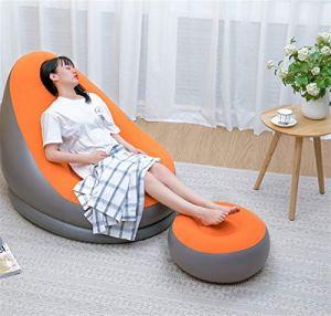 WDFDZSW Canapé de Paresseux Canapé Gonflable Chaise et Chaise de taboure-Tabouret Chaise Longue pour la Maison et Le Jardin (Color : Orange)