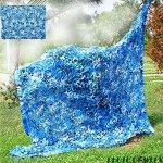Filet de Camouflage Filet Camo Net Déco DécorationMurale Thème Parti Décoration Photographie Fond Ombre extérieure Voiture Couverture Voile Ombrage Douce et Durable (Size : 5x10m.4×32.8ft)