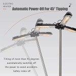 JKGCHKJYTYH Parasol chauffant électrique pour terrasse – Étanche IP34 – Hauteur réglable – 3 réglages de puissance avec 3 panneaux de chauffage – Idéal pour l'intérieur et l'extérieur – 1500 W