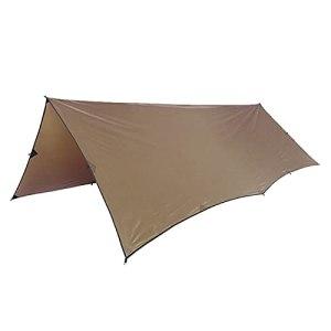 JUNMAIDZ Tente 210t Polyester Soleil Shelter 3x4M ComapacCact Dirigeant Durable Tarpauline Terre Beach Tente Auvent 100% imperméable (Color : Coyote Brown)