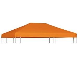 LONGMHKO Vie en extérieur Toile supérieure de belvédère 310 g/m² 4 x 3 m Orange Poids du Tissu : 310 g/m²