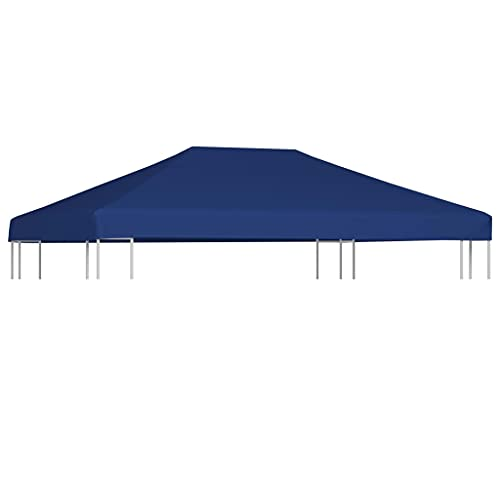 LONGMHKO Vie en extérieur Toile supérieure de belvédère 310 g/m² 4×3 m Bleu Poids du Tissu : 310 g/m²