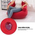 Toasses Chaise de canapé Gonflable de Flocage avec accoudoir pour Salon Chambre à Coucher Fournitures de Meubles d'extérieur