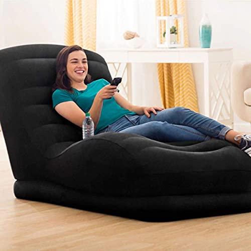 UniGiraffe Canapé Gonflable Paresseux de Paresseux à Une Seule Personne (avec Pompe à air) (Color : Black, Size : 81 * 173 * 91cm)