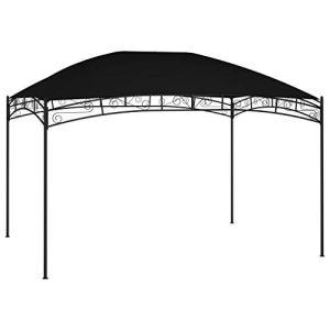 vidaXL Belvédère de Jardin Tonnelle de Patio Chapiteau d'Extérieur Pavillon de Jardin Tente de Réception Camping 4×3 m Anthracite 180 g/m²