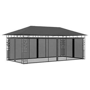 WELLIKEA Belvédère avec moustiquaire 6x3x2,73 m Anthracite