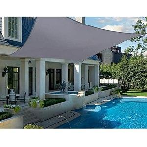 YUDEYU Extérieur Toile Voiles d'ombrage Voiture de Pergola Protection Solaire Canopée 160g/㎡ A l'abri de la Pluie Anti-UV Terrasse Jardin Filet d'ombrage (Color : A, Size : 3 x 3m)