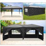 YUEBO Tonnelle Pliante imperméable Barnum 3×6 m Tonnelle Pliable avec 6 Parois Gazebo Pliant Tent Jardin Exterieur Chapiteau de Reception