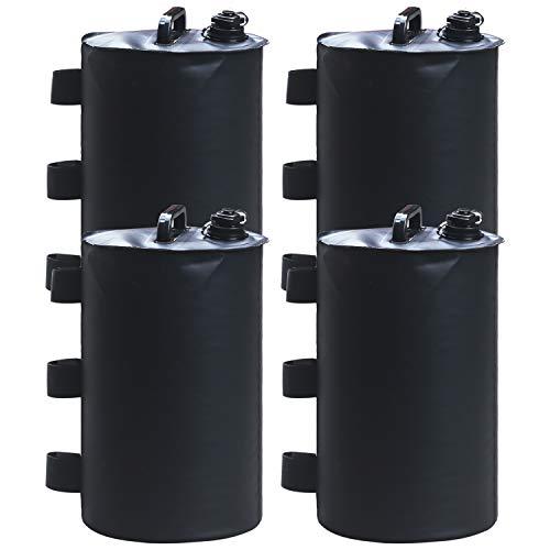 ABCCANOPY Sac de poids d'eau pour auvent ou tente (noir)