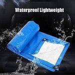DONGQISHANGMAO Tarwood Housse étanche et résistante à l'eau en goudron bleu, étanche, avec boucle en aluminium, très adaptée pour le sac à dos, le camping et le refuge (taille : 3 x 4 m)