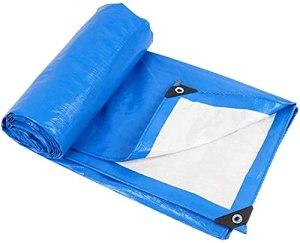 DONGQISHANGMAO Tarwood Housse étanche et résistante à l'eau en goudron bleu, étanche, avec boucle en aluminium, très adaptée pour le sac à dos, le camping et le refuge (taille : 4 x 8 m)