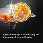 LXBH Chauffage Électrique De Terrasse,Chauffage De Plafond Télécommande Chauffage De Terrasse IP44 avec Housse De Protection Parasol Chauffant Chauffage De Plafond Infrarouge