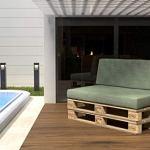 POKAR Set de 2 Coussins pour Palettes Euro: 1x Assise 120x80cm + 1x Dossier 120x40cm, en Mousse formée à Froid, pour Canapé de Jardin, Intérieur et Extérieur, sans Palette, Vert