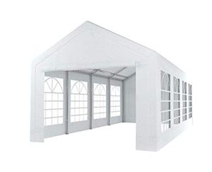 Tente de réception 4x8m Premium 240g/m² PE poteaux Acier galvanisés