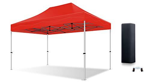 ACTIEXPRESS Tente Pliante Barnum Pliant Tonnelle Professionnelle 2×2,3X3,3×4.5,3×6,4×8 Structure en Aluminium 40mm Toit 300g/m² qualité professionelle (Rouge, 2×3)